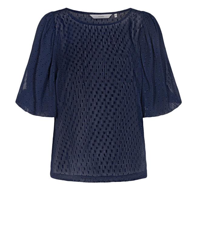 NUMPH - Nucatulsa blauw blouse