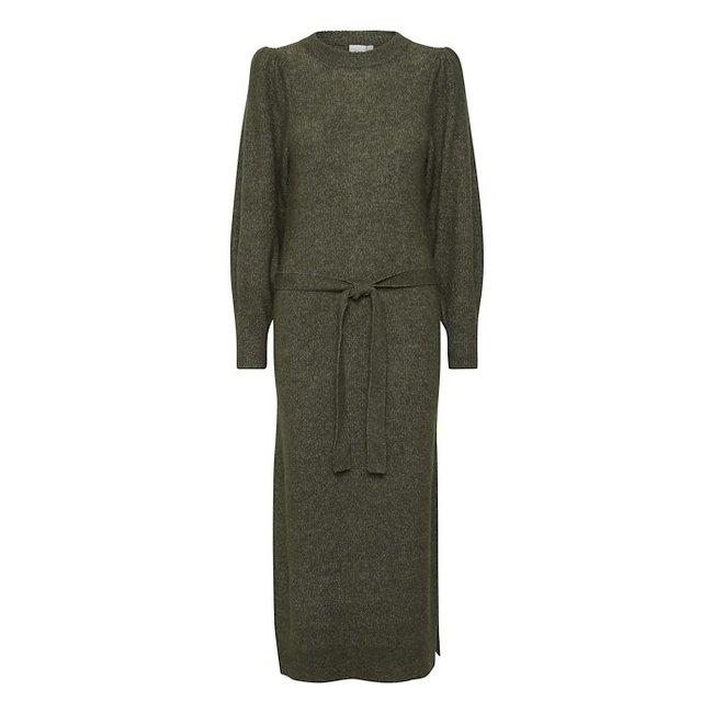 ICHI - Ihjordan jurk groen