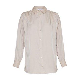 Moss Copenhagen MSCH - Meise ls blouse ecru