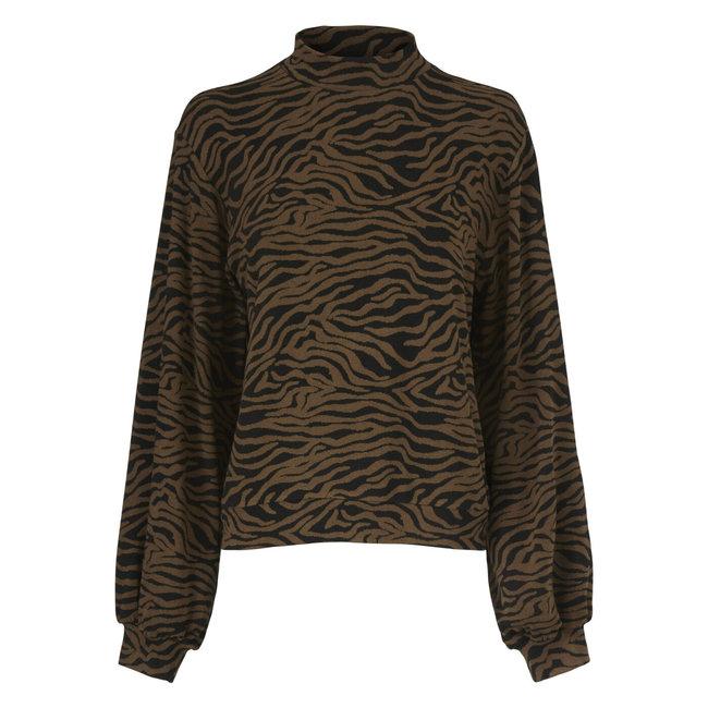 MODSTROM - Ming sweater pecan zebra