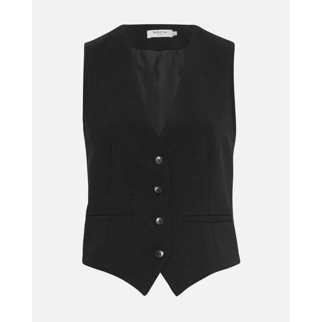 MSCH - Agda waiscoat zwart