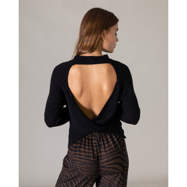 THINGS I LIKE THINGS I LOVE - Olein open back knit zwart