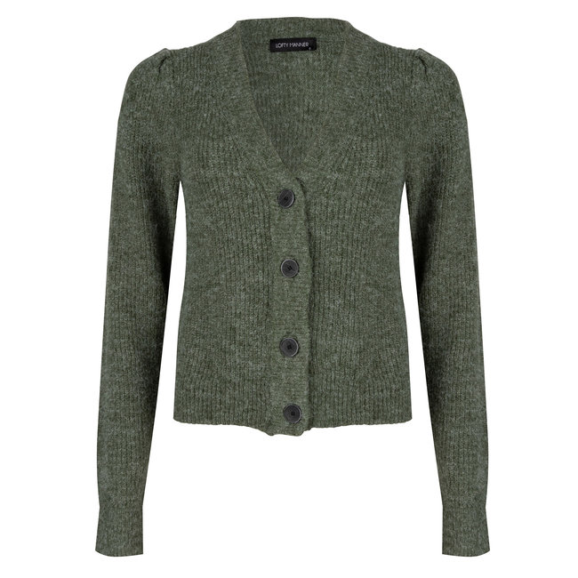 LOFTY MANNER - Cardigan daphne groen