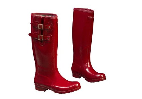 Laura Ashley Tuinlaarzen wellingtons Classic red