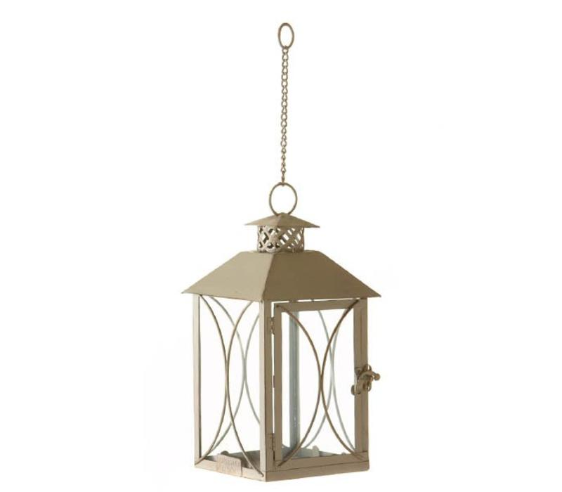 Hanging planter candle lantern Oyster