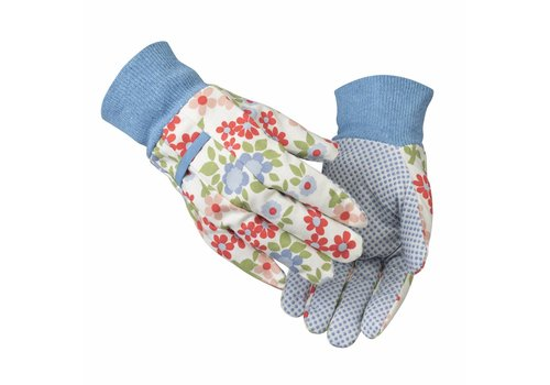Laura Ashley Tuinhandschoenen: Gloves Caravan Daisy soft cotton twin pack