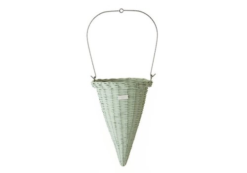 Laura Ashley Orion hanging basket Green