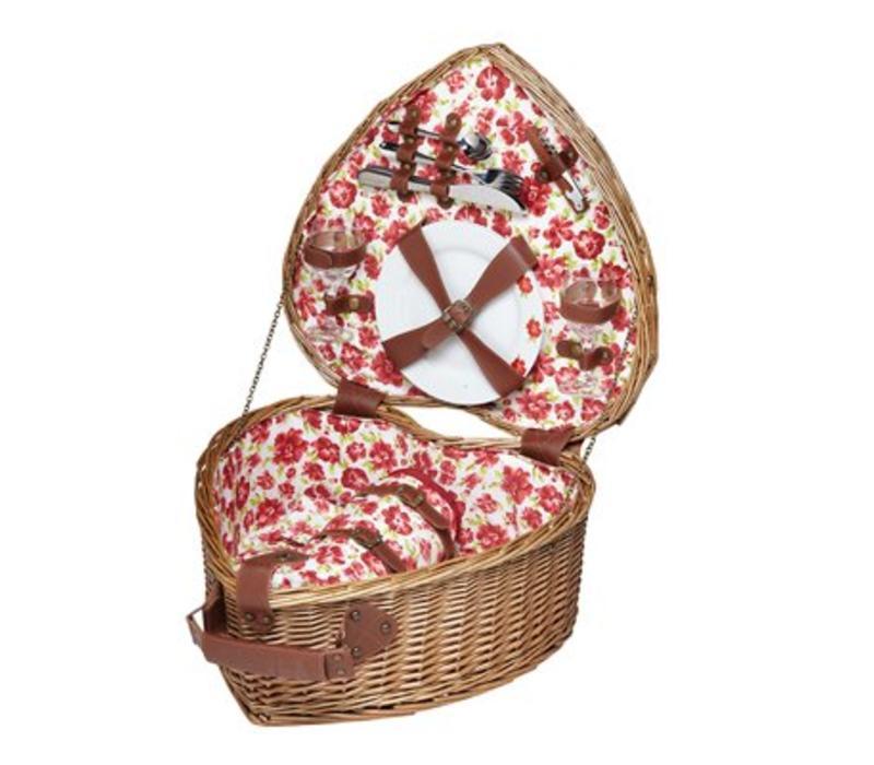 Picknick set Cressida hartvormig
