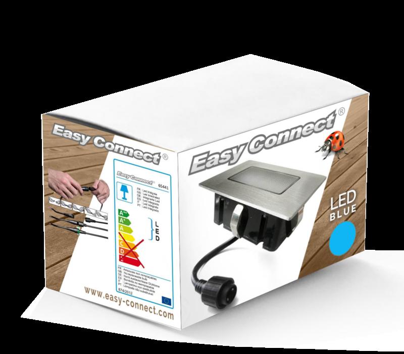 Easy Connect inbouwspot rechthoekig