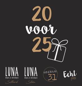 Giftcard €25,- voor €20,-