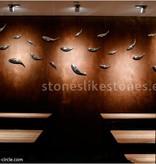 Stones likes stones Roest behang op rol