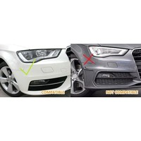 RS3 Look Mistlamp rooster Piano Black Edition voor Audi A3 8V
