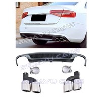 S line Look Diffuser + Exhaust tail pipes for Audi A4 B8