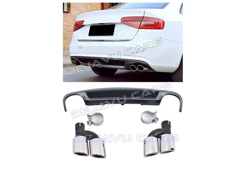 OEM LINE S line Look Diffuser + Exhaust tail pipes for Audi A4 B8.5