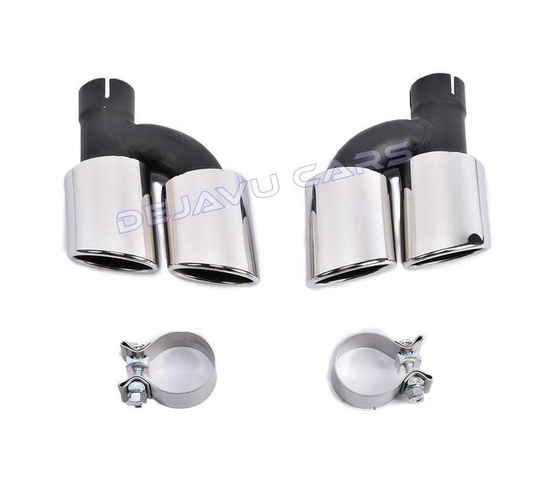 S line Look Diffuser + Exhaust tail pipes for Audi A4 B8.5