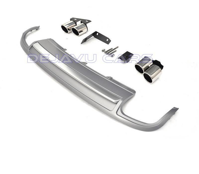 S5 Look Diffuser + Exhaust tail pipes for Audi A5 8T Sportback