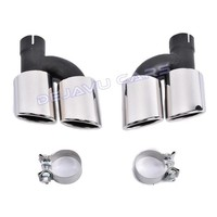 S Look Exhaust Tail pipes set for Audi S3 S4 S5 S6 S7 S8 SQ3 SQ5 SQ7
