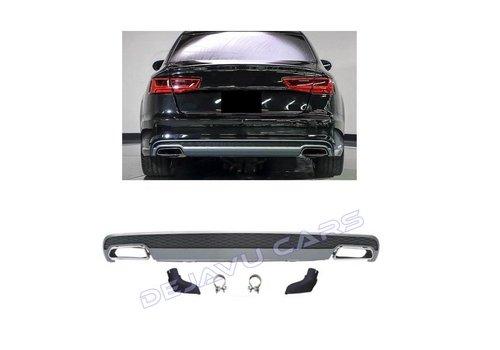 OEM LINE S line Facelift Look Diffuser + Uitlaat sierstukken voor Audi A6 C7 4G