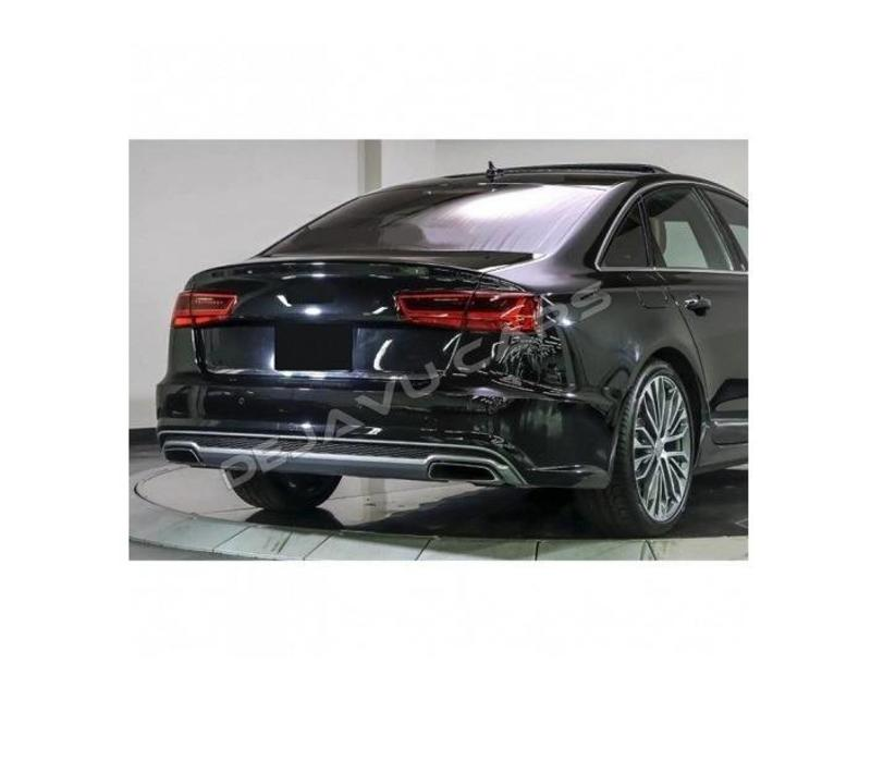 S line Facelift Look Diffuser + Uitlaat sierstukken voor Audi A6 C7 4G