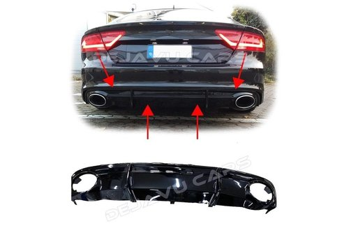 OEM LINE RS7 Look Diffusor für Audi A7 4G S line / S7
