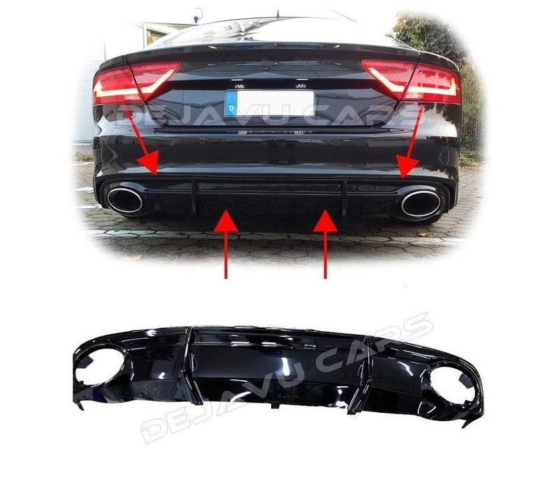 RS7 Look Diffuser for Audi A7 4G S line / S7