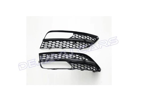 OEM LINE RS3 Look Nebelscheinwerfergitter Black Edition für Audi A3 8V