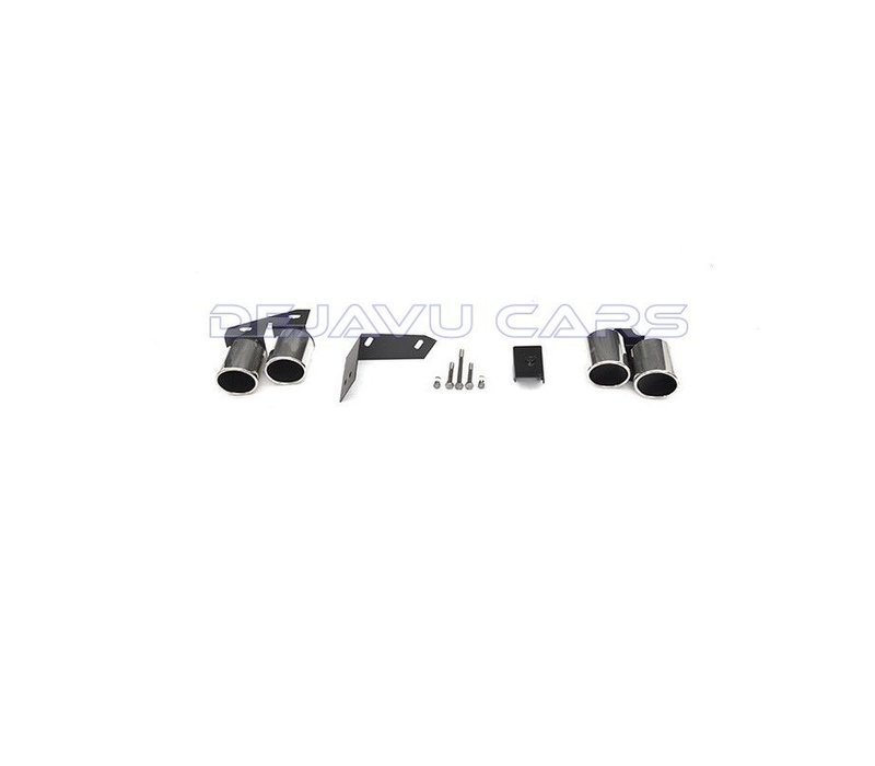 S Look muffler tips (Variant 2) for Audi S3 S4 S5 S6 S7 S8 SQ3 SQ5 SQ7