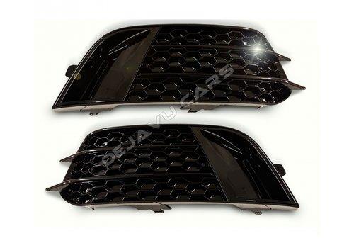 OEM LINE RS1 Look Nebelscheinwerfergitter Black Edition für Audi A1 8X