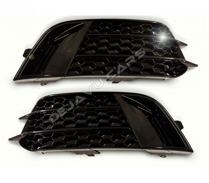 RS1 Look Mistlamp roosters Black Edition  voor Audi A1 8X
