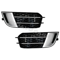 RS1 Look Fog light grille Silver/Black Edition for Audi A1 8X