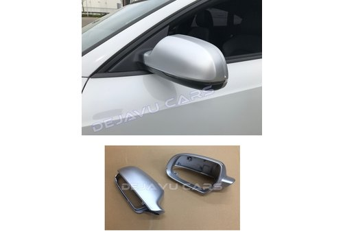 OEM LINE Matt Aluminium look Mirror Caps for Audi A3 S3 RS3 A4 S4 RS4 A5 S5 RS5