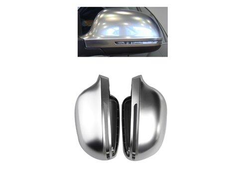 DEJAVU CARS - OEM LINE Matt Chrome Mirror Caps for Audi A3 S3 A4 S4 A5 S6 A6 S6 A8 S8 Q3 RS Q3