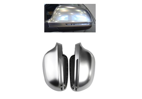 OEM LINE Matt Chrome Mirror Caps for Audi A3 S3 A4 S4 A5 S5 A6 S6 A8 S8 Q3 RS Q3