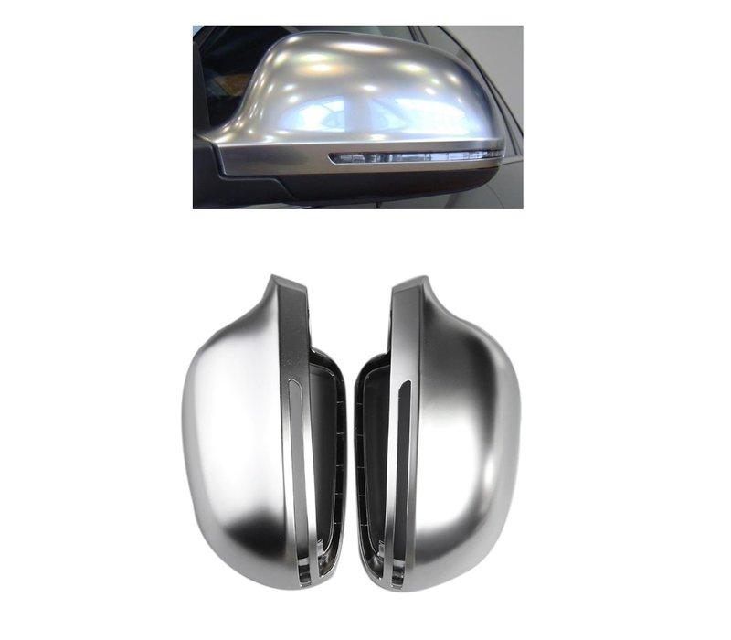 Mat Chrome Spiegelkappen voor Audi A3 S3 A4 S4 A5 S5 S6 A6 S6 A8 S8 Q3 RS Q3