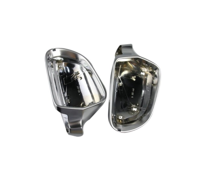 Matt Chrome Mirror Caps for Audi A3 S3 A4 S4 A5 S5 A6 S6 A8 S8 Q3 RS Q3