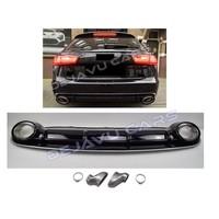 RS6 Look Diffuser + Uitlaat sierstukken voor Audi A6 C7 4G