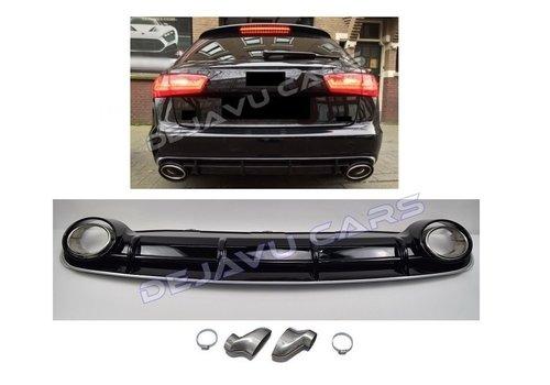 OEM LINE RS6  Look Diffusor + Auspuffblenden für Audi A6 C7 4G