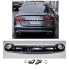 OEM LINE RS6  Look Diffuser + Exhaust tail pipes for Audi A6 C7 4G (S LINE)