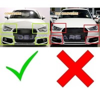 RS1 Look Mistlamp roosters Silver/Black Edition voor Audi A1 8X