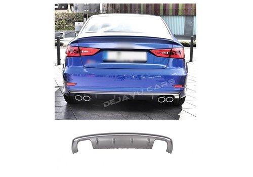 OEM LINE S3 Look Diffuser Platinum grijs voor Audi A3 8V (S line achterbumper)