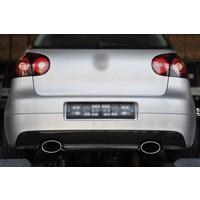 RS Look Auspuff Endrohre 152mm x 95mm für Audi