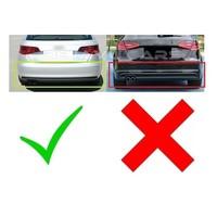 S3 Look Diffuser Black Edition + Uitlaat systeem voor Audi A3 8V Hatchback / Sportback