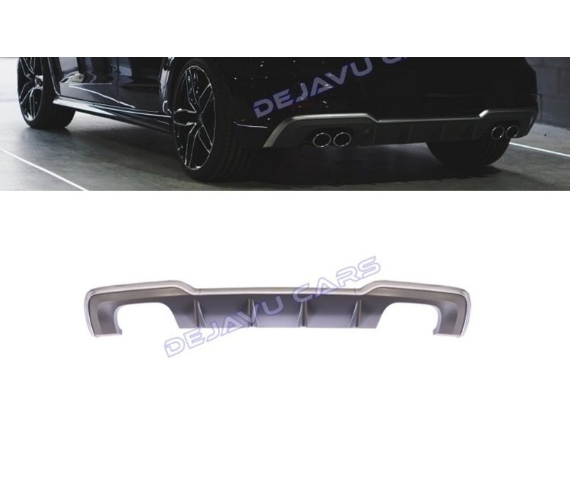 S3 Look Diffusor Platingrau für Audi A3 8V (S line hintere Stoßstange)