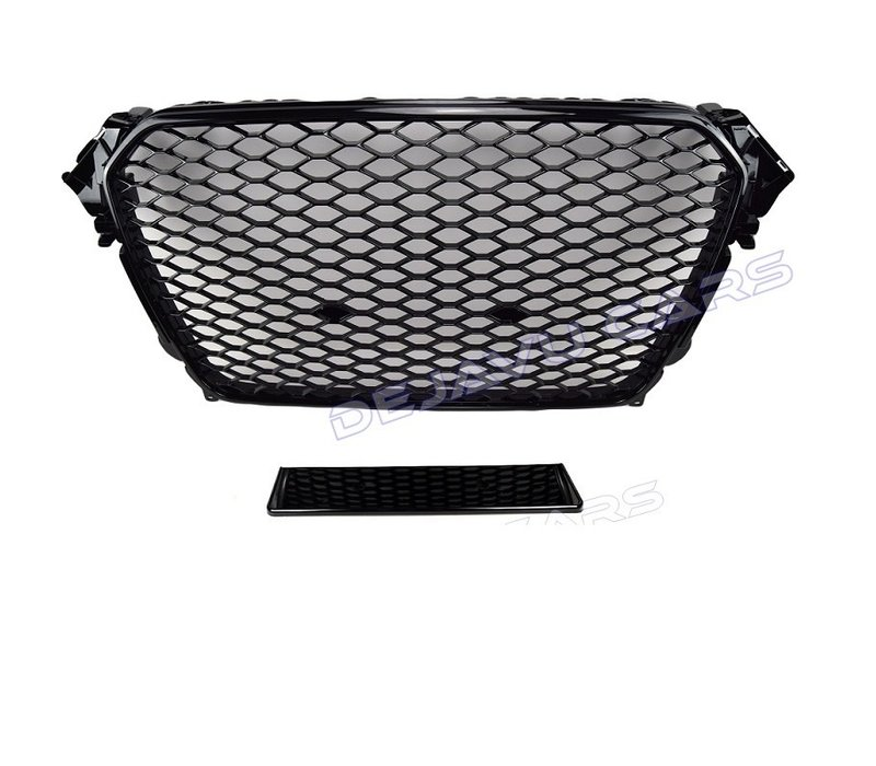 RS4 Look Front Grill Black Edition + Fog Light Grilles for Audi A4 B8.5