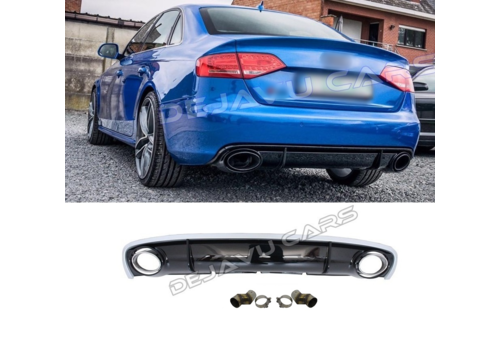 OEM LINE® RS4 Look Diffuser for Audi A4 B8