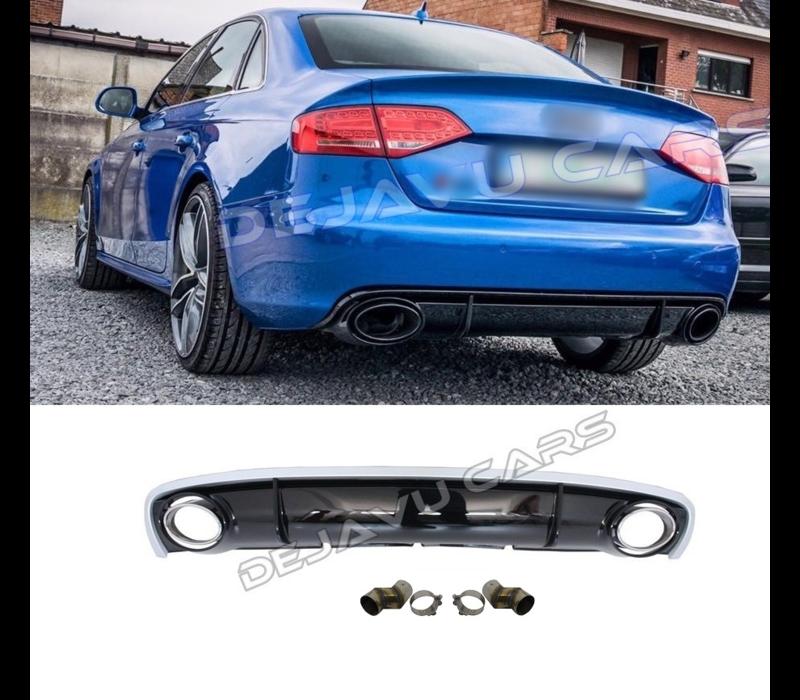 RS4 Look Diffusor für Audi A4 B8