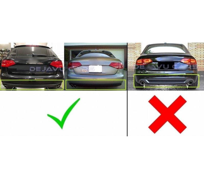 S line Look Diffusor für Audi A4 B8