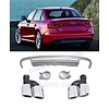 OEM LINE S4 Look Diffuser + Exhaust tail pipes for Audi A4 B8