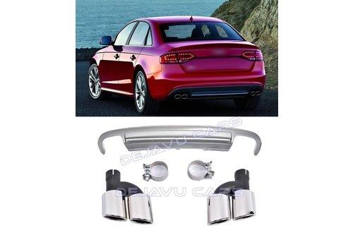 OEM LINE S4 Look Diffusor + Auspuffblenden für Audi A4 B8