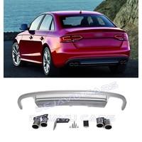 S4 Look Diffuser + Uitlaat sierstukken voor Audi A4 B8